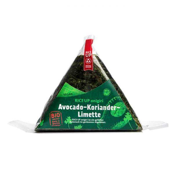 Packshot Onigri Avocado-Koriander-Limette